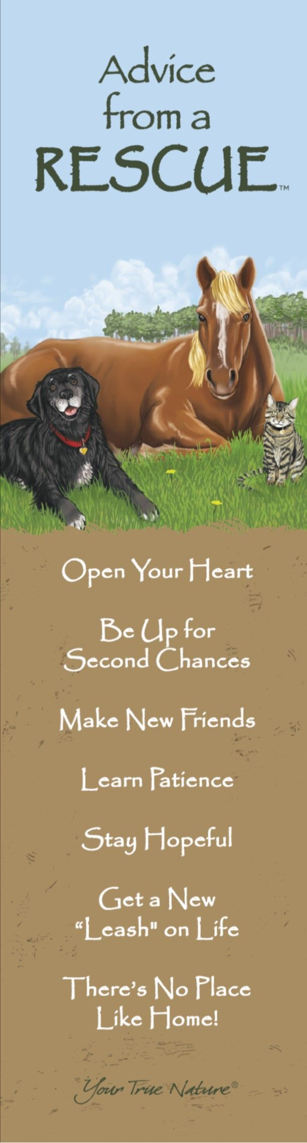 Advice from a rescue bookmark your true nature quotesremember