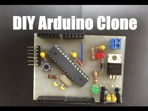 DIY Arduino Clone - PCB Etching, Tin Plating, Drilling, Soldering