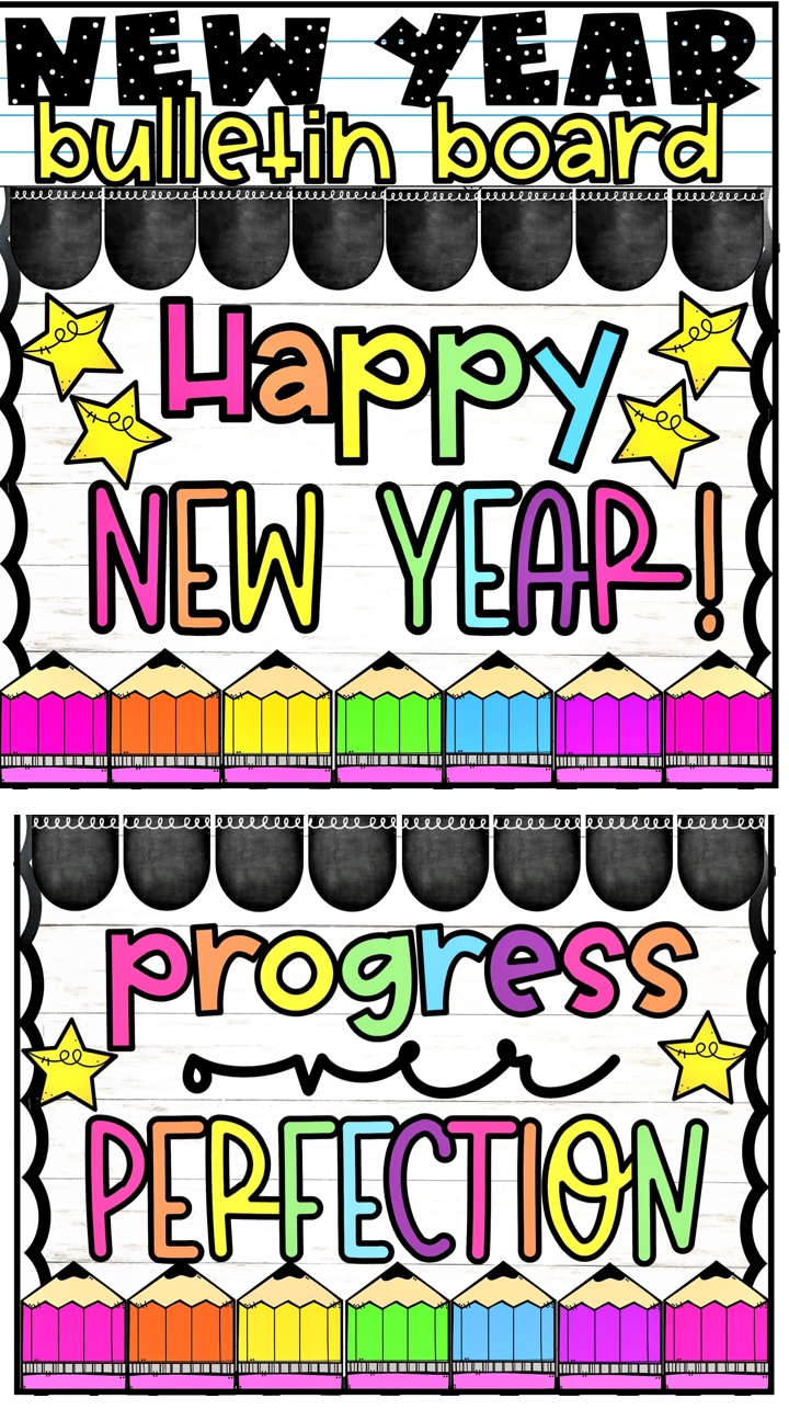 New Year Classroom Bulletin Board In 2020 Classroom Bulletin Boards Elementary Schools Teachers Pay Teachers Seller