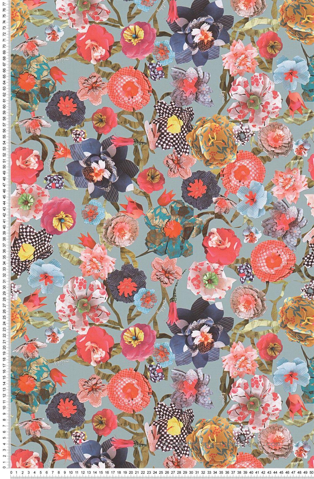 papier peint fleurs d copath multicolore papier peint oilily home papier d co int rieure. Black Bedroom Furniture Sets. Home Design Ideas