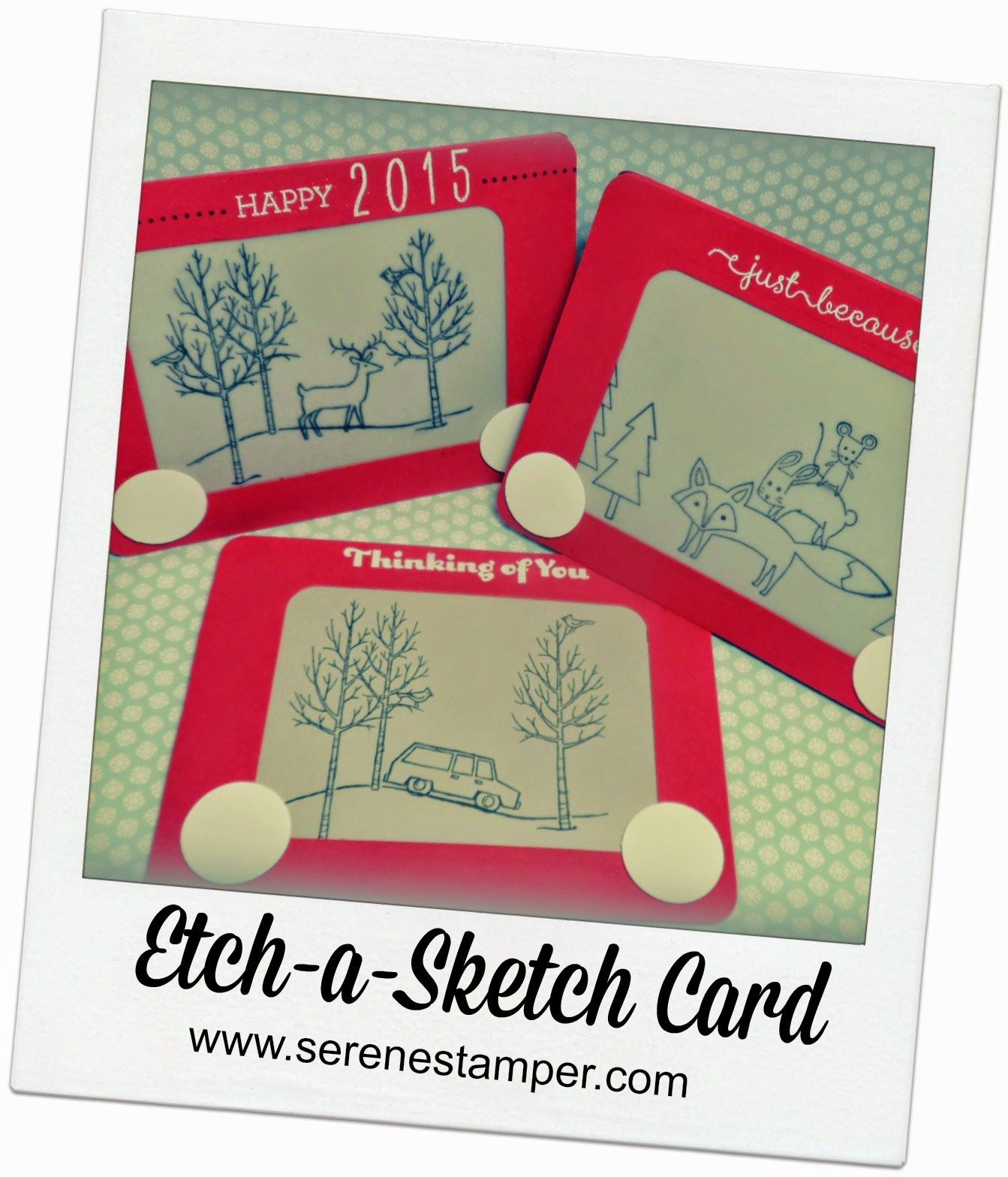 Card Sketches For Card Making Ideas Part - 27: Etch-a-Sketch Card Using Stampin Up Stamp Sets