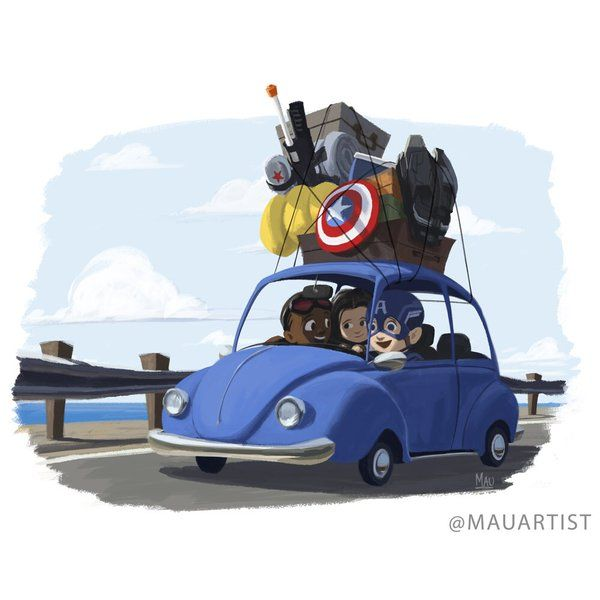 """""""Captain America: Road Trip"""" @Marvel can you please make this movie? #TeamCap #CivilWar @ChrisEvans @AnthonyMackie https://t.co/YVmgfiBbeC"""