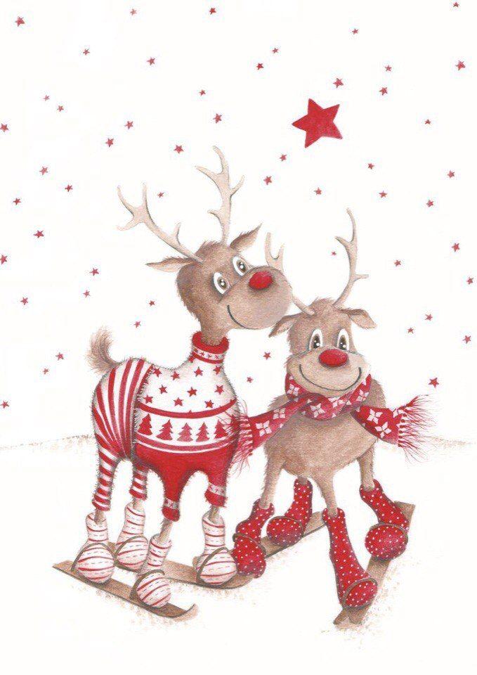 Открытки, открытка с новым годом с оленем