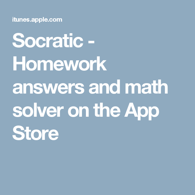 Socratic Homework answers and math solver on the App