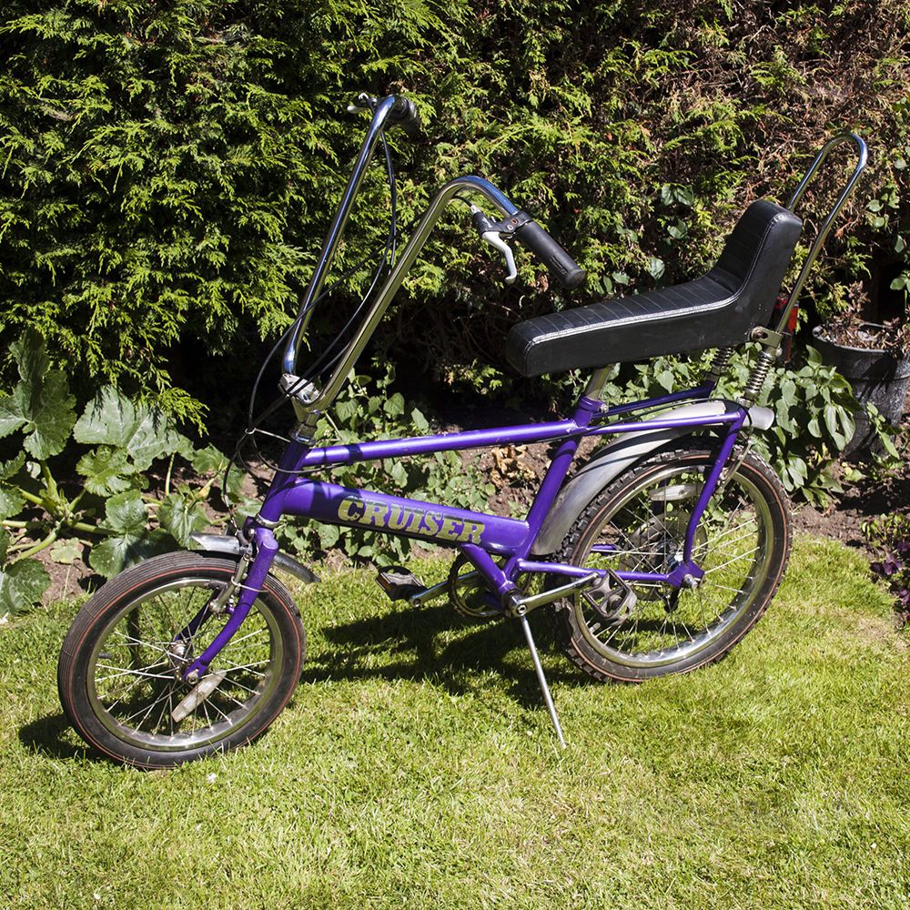 Vintage Retro Purple Raleigh Chopper Land Cruiser Bicycle Push Bike Free Uk P P Push Bikes Cruiser Bicycle Raleigh Chopper