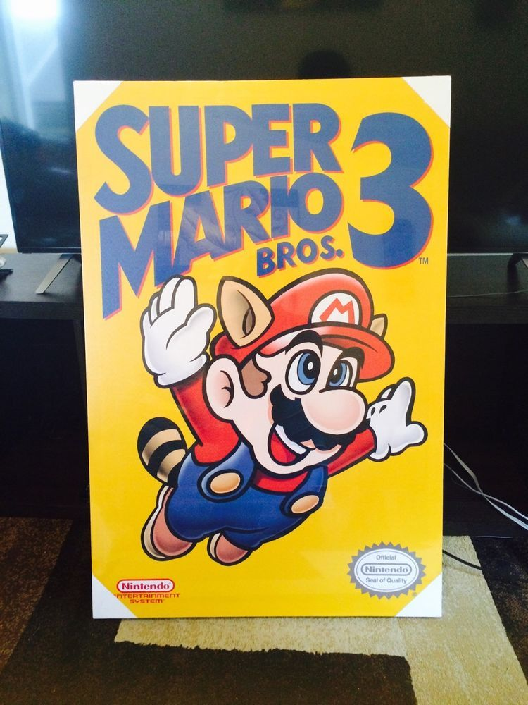 canvas art Super Mario Bros 3 nintendo NES wall art work 36 inch 24 ...