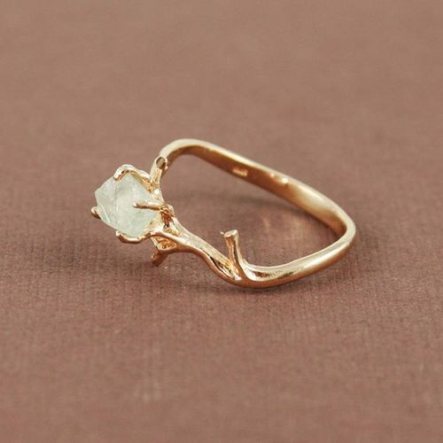 Unique Branch And Natural Green Amethyst Ring On Etsy My Dream Wedding