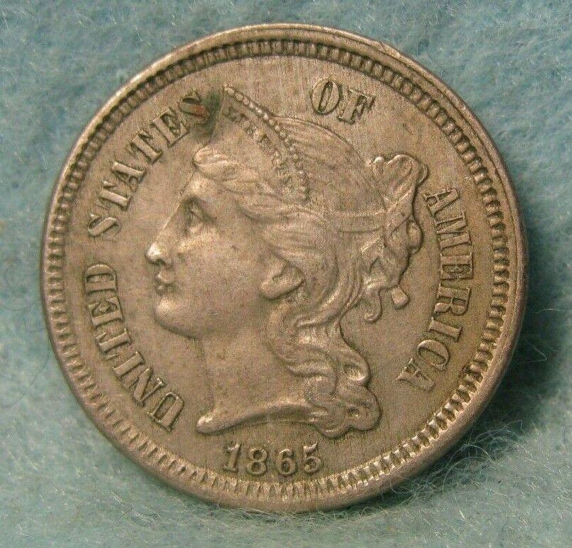 1865 Civil War Era Three Cent Nickel United States Coin In 2020 Civil War Era Coins Civil War