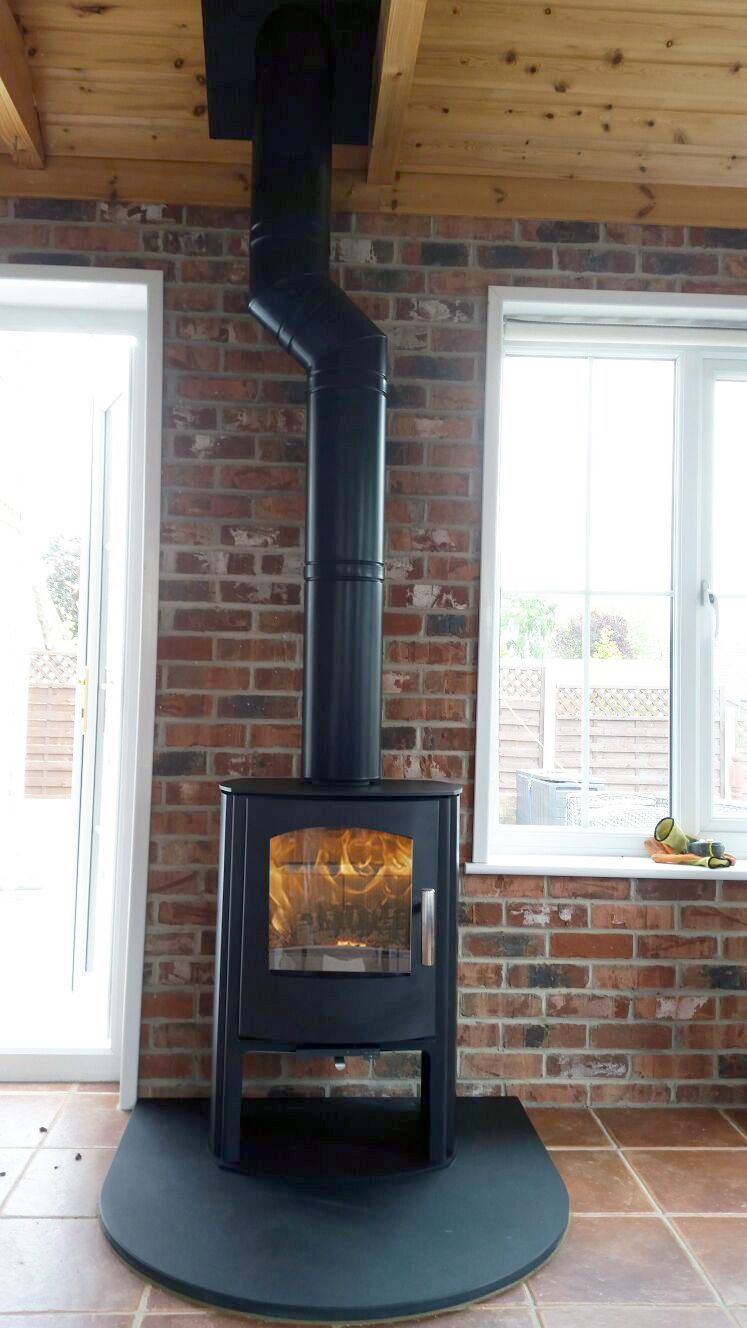 Mendip Churchill 5 Convection Log Store  Installed onto a