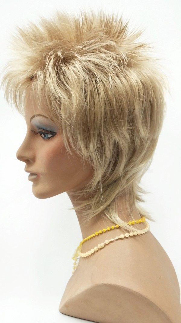Dirty Blonde Short Spiky Mens Wig Synthetic Rod Stewart Rocker Style ... 18e9a04ef