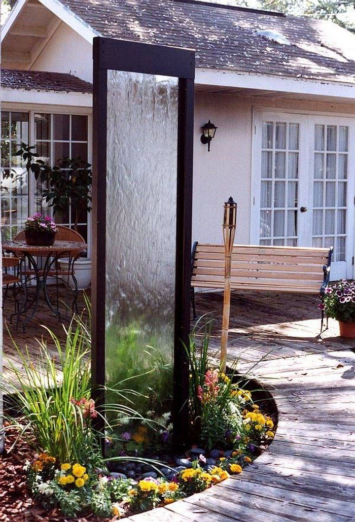 How To Build A Glass Waterfall For Your Backyard Landscape