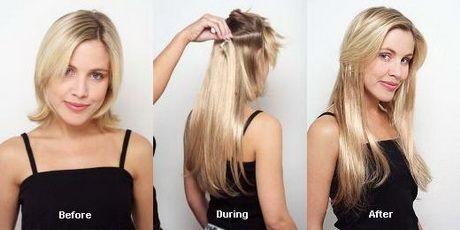 hår extensions i kort hår
