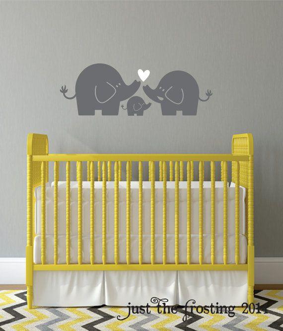 Elefanten Familie Wall Decal Kinderzimmer Elefant Wand - wnde kinderzimmer