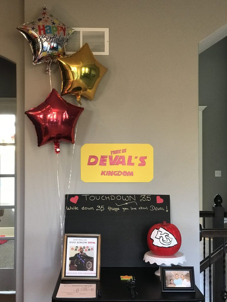 A 35th Kansas City Chiefs Football Themed Birthday Party For My Loving Husband Check