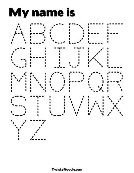 Alphabet Coloring Page | homeschool projects. | Pinterest | Lernen