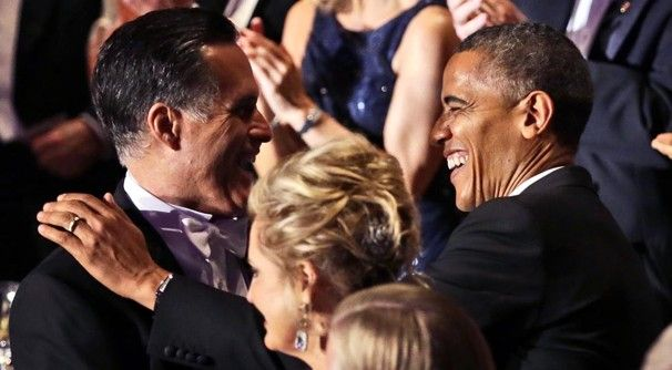 500 Post poll: President Obama well ahead of Mitt Romney in deep-blue Maryland    Mitt Romney and President Obama greet each other at the 67th annual Alfred E. Smith Memorial Foundation Dinner in New York this week.    Oct. 19, 2012