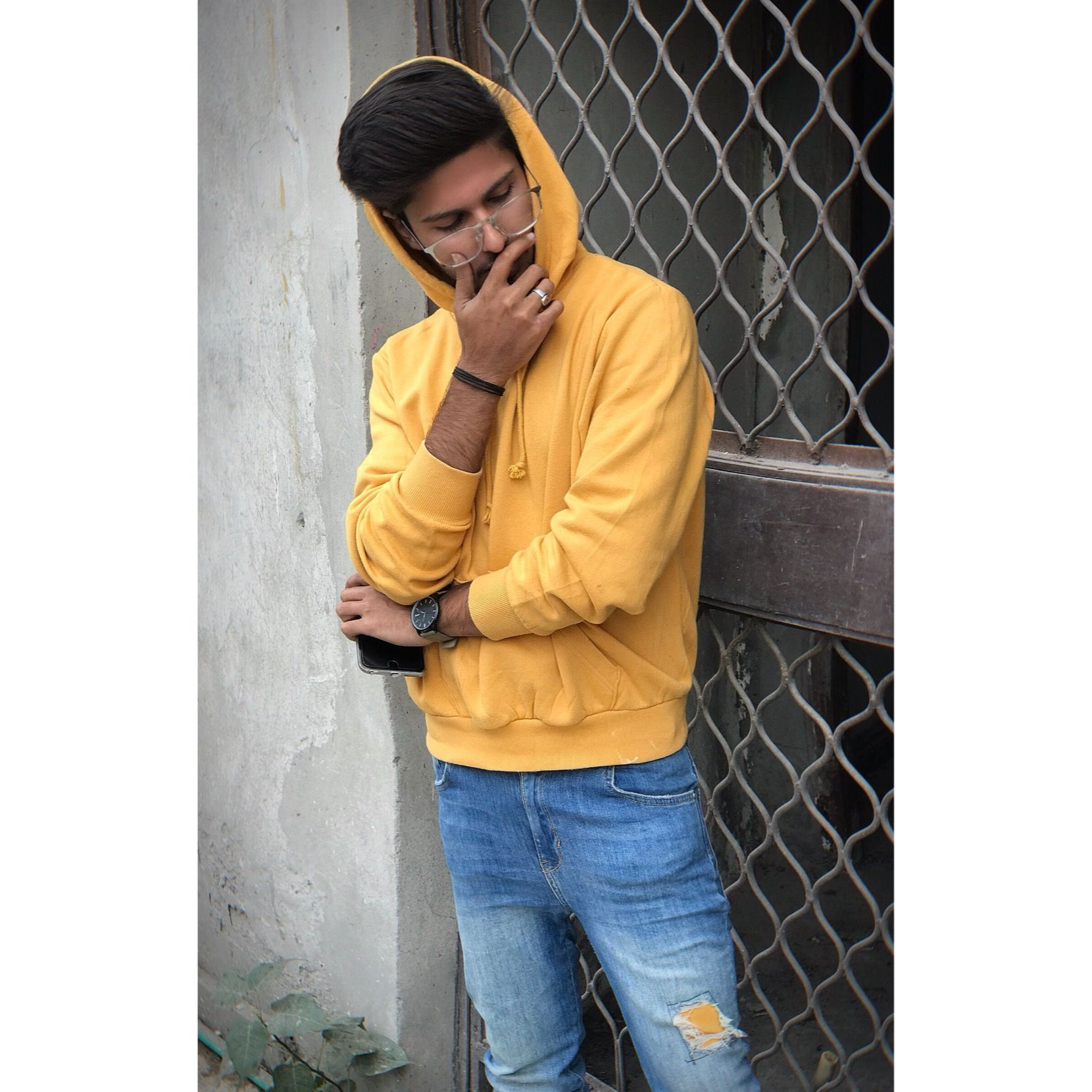 Mefaadi Girls Dp Stylish Yellow Hoodie Photography Poses For Men