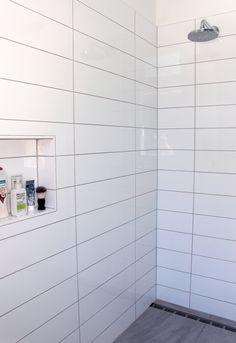 Large Rectangular White Tiles Bathroom Google Search Patterned Bathroom Tiles Room Wall Tiles Tile Bathroom