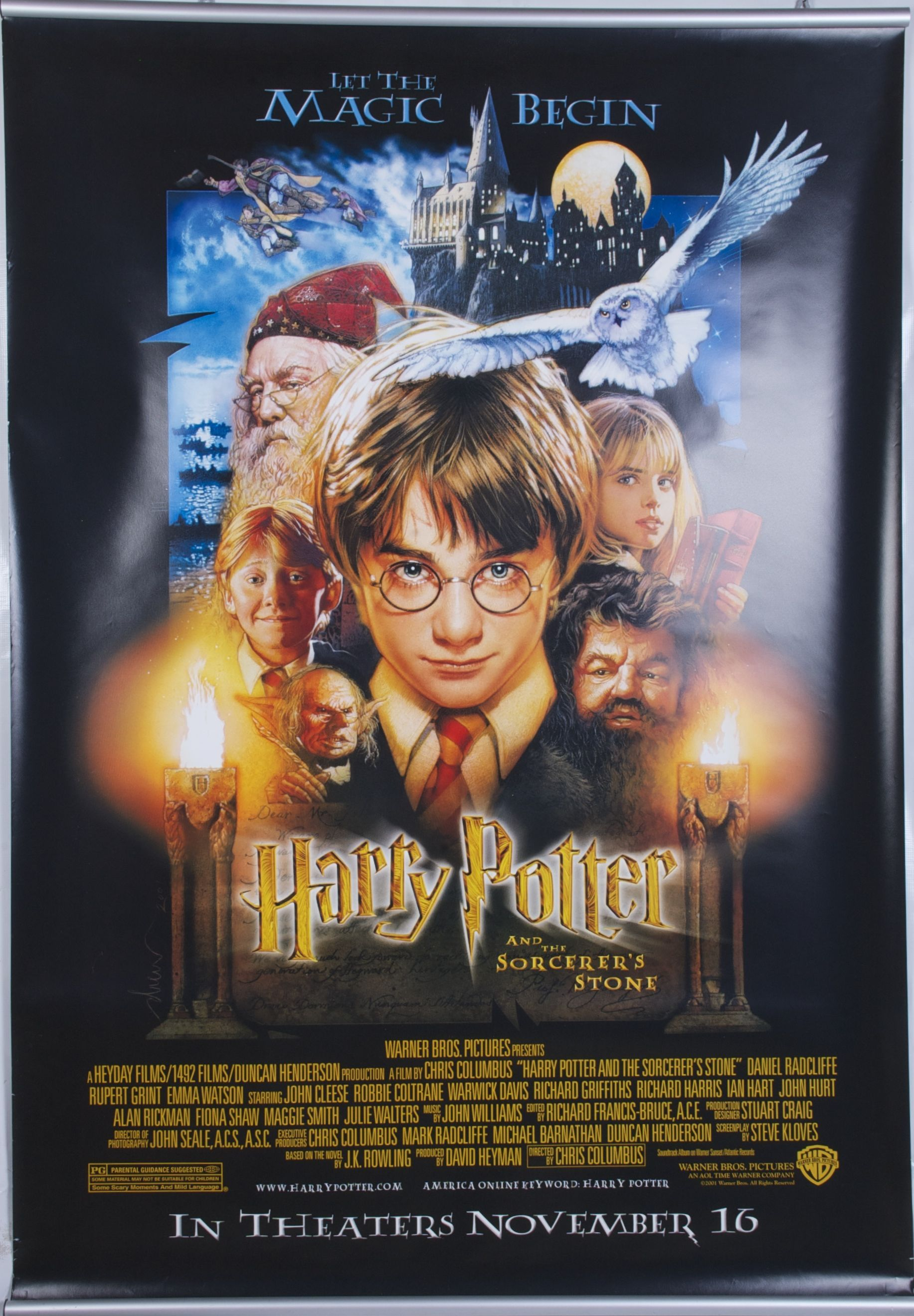 Harry Potter And The Sorcerer S Stone Poster Harry Potter Movie Posters Harry Potter Movie Night Harry Potter Poster