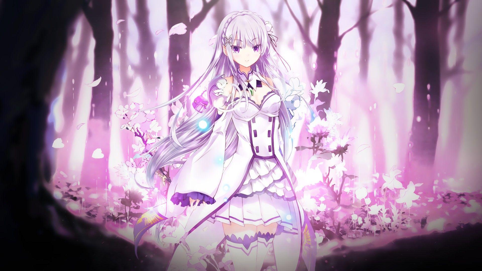 Re Zero Wallpaper Emilia HD Re zero wallpaper, Anime
