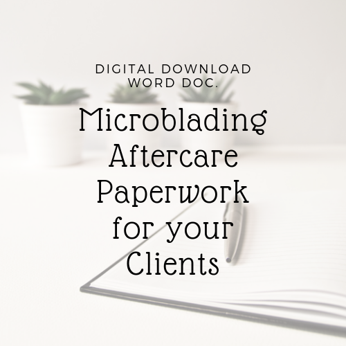 Microblading Aftercare, Microblading healing day by day