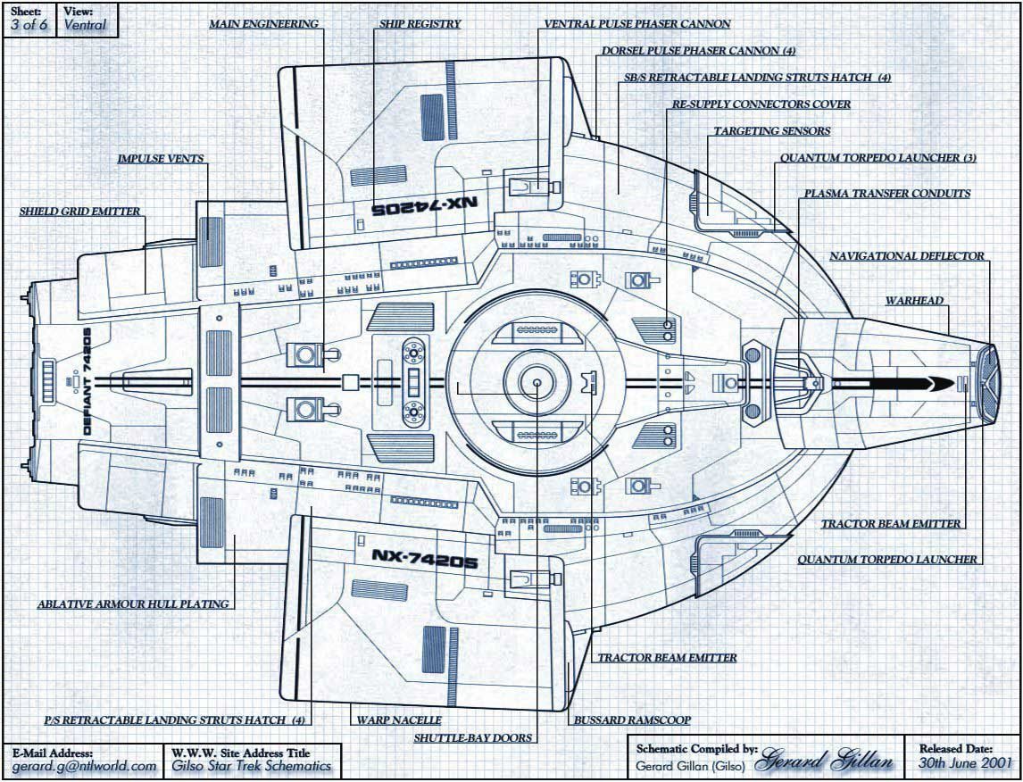 U.S.S. Defiant NX-74205 | MY FLEET | Star trek starships, Star trek on runabout schematics, uss reliant schematics, deep space nine schematics, uss titan schematics, uss diligent, millennium falcon schematics, uss equinox, uss voyager, star trek ship schematics, uss excalibur, uss reliant deck plans, uss yamaguchi, uss lst schematic, uss vengeance star trek, uss valiant schematics, uss prometheus, uss enterprise, space station schematics, uss excelsior, delta flyer schematics,