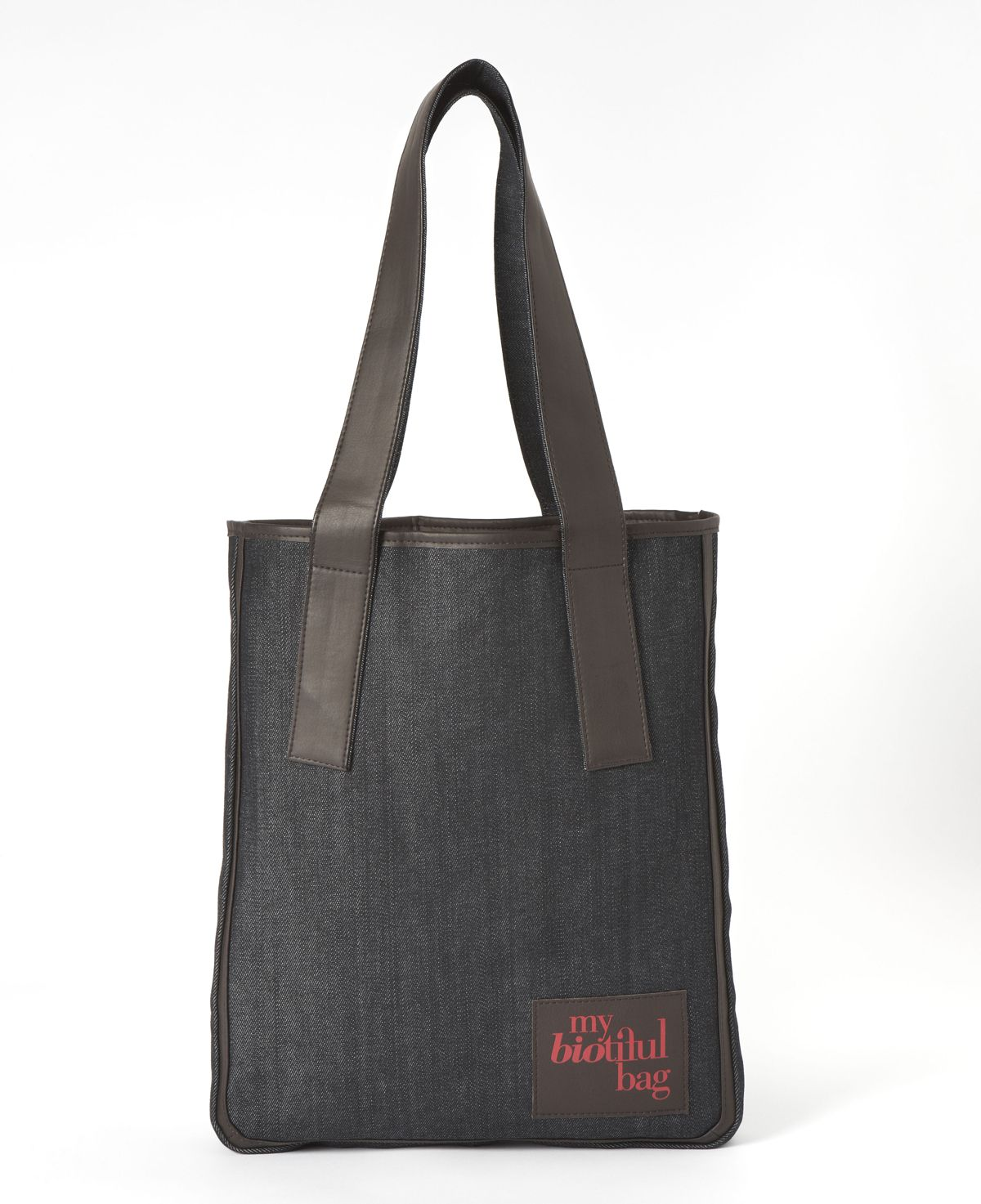 SAC TOTE DENIM CHOCO / Nomade Collection / MY BIOTIFUL BAG