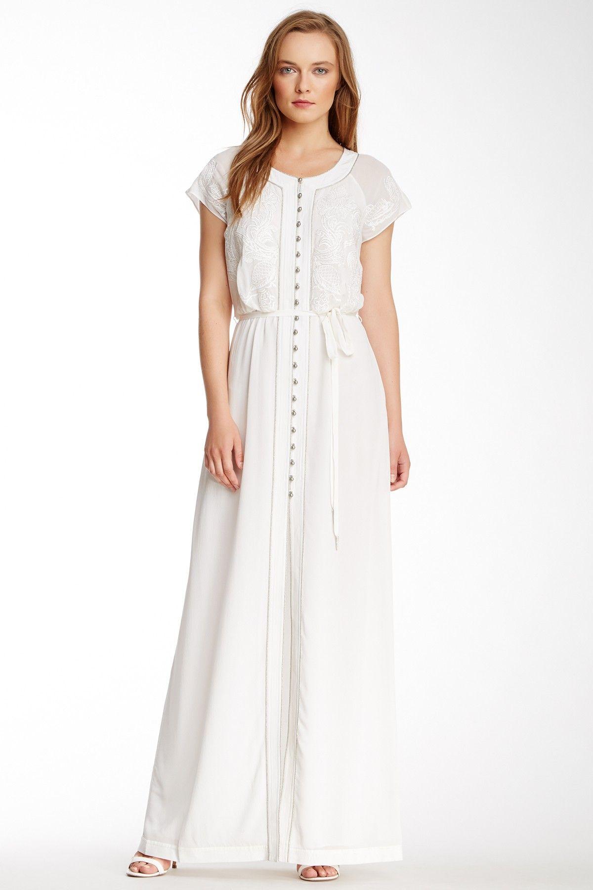 Embroidered maxi dress fashion pinterest marchesa maxi