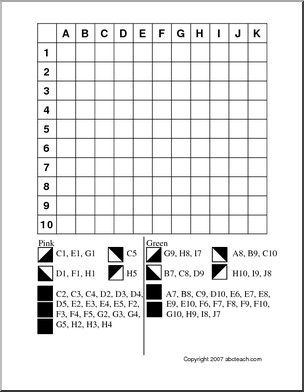 Grid Coloring: Tulip - Follow the directions and color the grid to ...