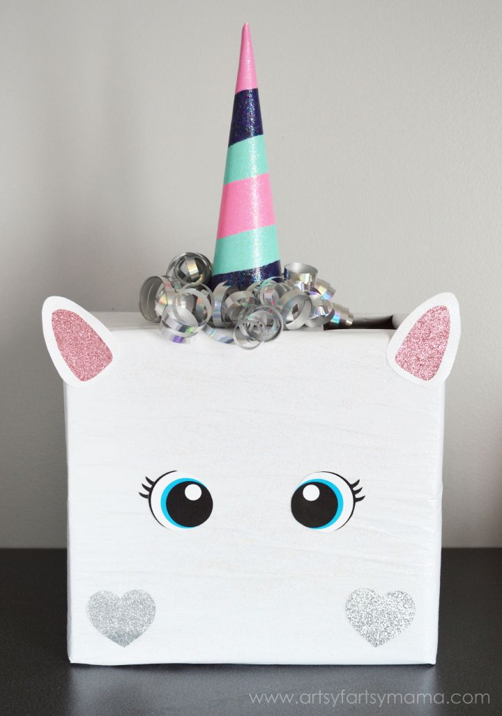 Unicorn Valentine Card Box Valentines Day Pinterest Valentine