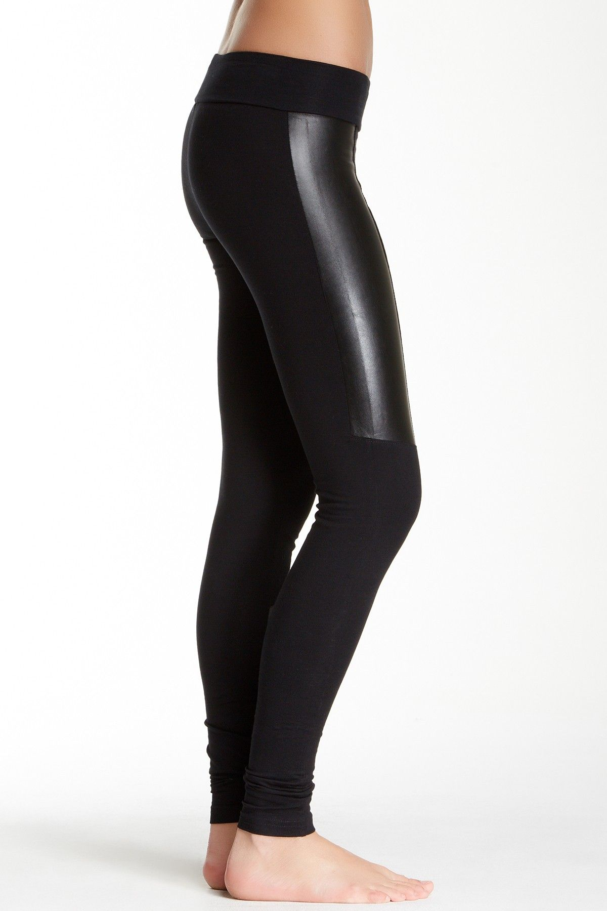 6ecce9d46aeb7 Faux Leather Panel Legging (Juniors) by Abound on @nordstrom_rack
