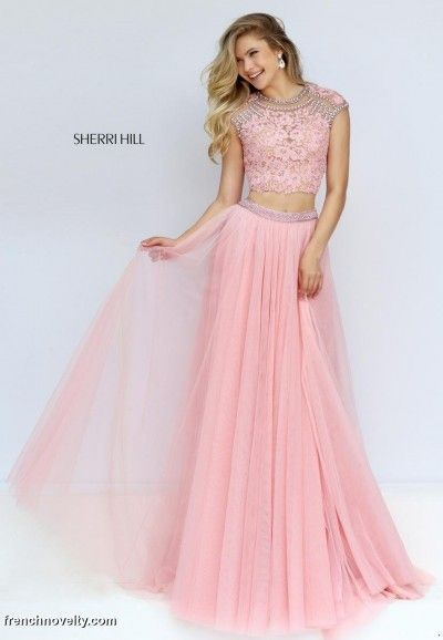 7876d4c993d Sherri Hill 50110 Sheer Lace 2pc Prom Gown in 2019