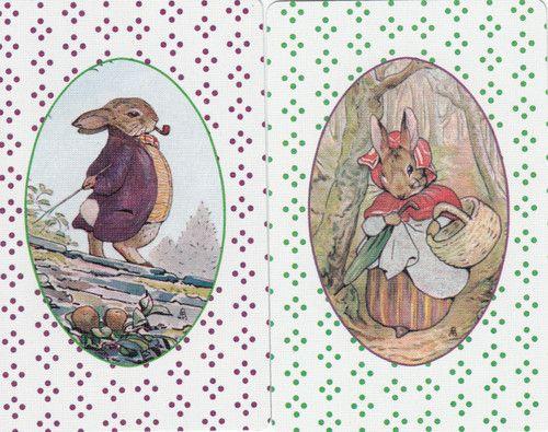 Vintage Swap/Playing Cards-  BEATRIX POTTER  RABBITS