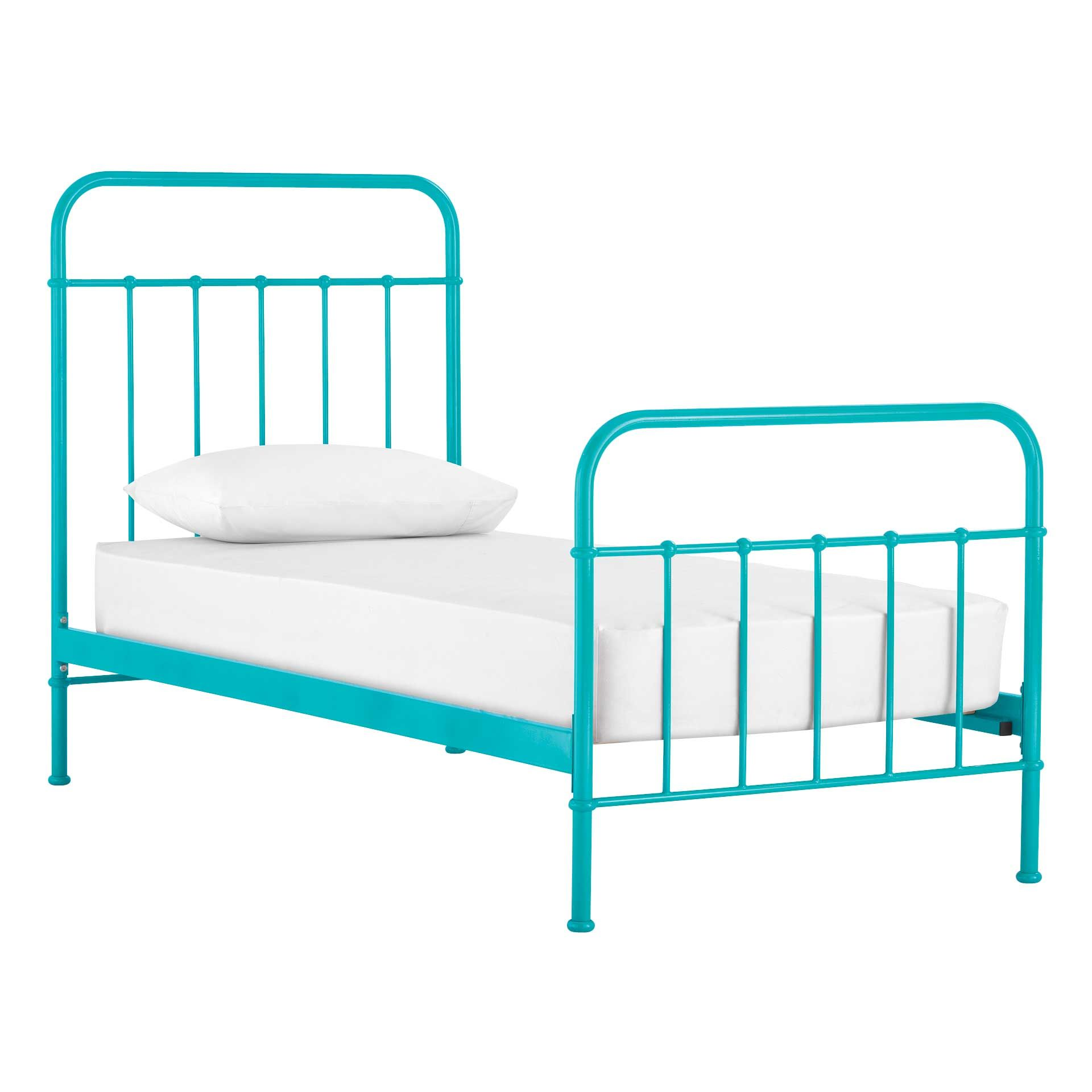 Best Brand New Sunday Teal Blue Bed Frame From Domayne Kid 640 x 480