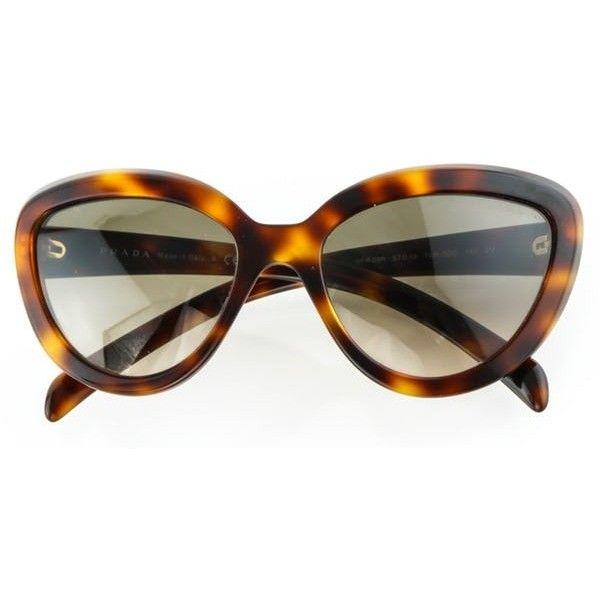 fb19a98ab1 ... cheap prada spr 08r havana sunglasses 180 liked on polyvore featuring  accessories eyewear b665d de9cf