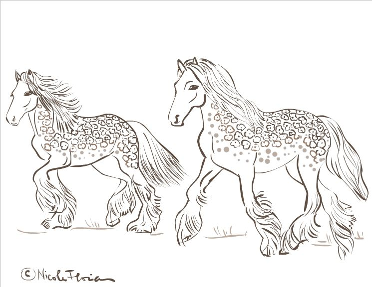 Coloring Nicoles Free Pages Adults Therapy And Sumptuous Design Horse Book Gypsy Horses Page