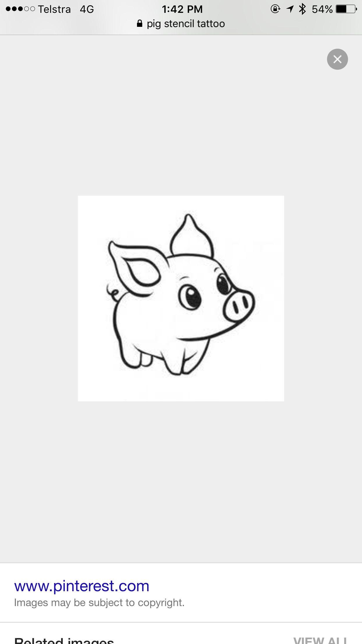 Tattoo idea for stencil pig | tattoo ideas | Pinterest | Tatuajes y ...