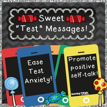 """Priced super low for testing season!Standardized testing can be really stressful! Help build up your students confidence with a """"Sweet"""" Test Message! These would be great for parents and teachers!A little treat can go a long way! This includes printables, posters, and coloring pages that go along with the following cost-effective candies: StarburstMintsTootsie RollsDum-Dum LollipopsSmarties"""