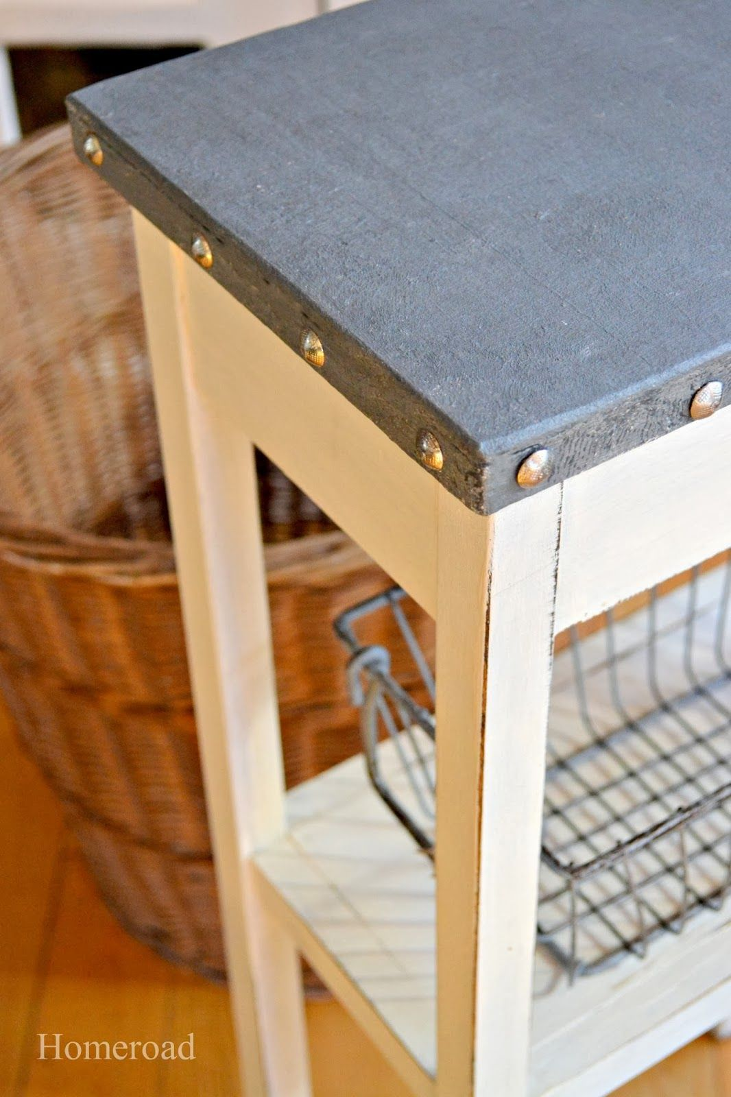 How To Create A Galvanized Table Top Look Diy Table Top Table