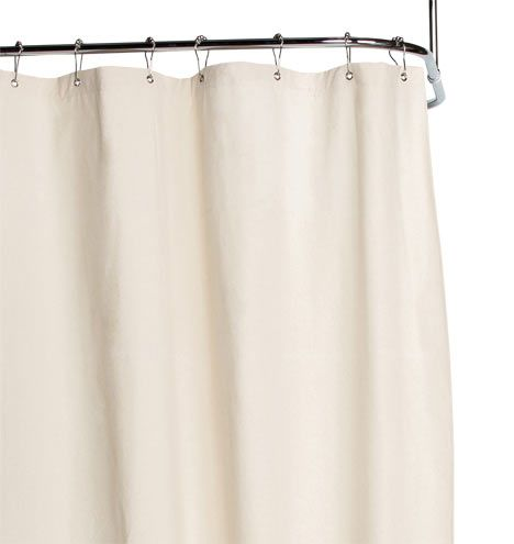 Natural Duck Cloth Shower Curtain Upstairs bathrooms, Bath and