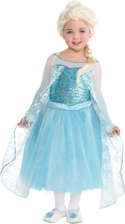85cb750d3a Toddler Girls Elsa Costume Premier - Frozen Size 3-5 - Party City ...