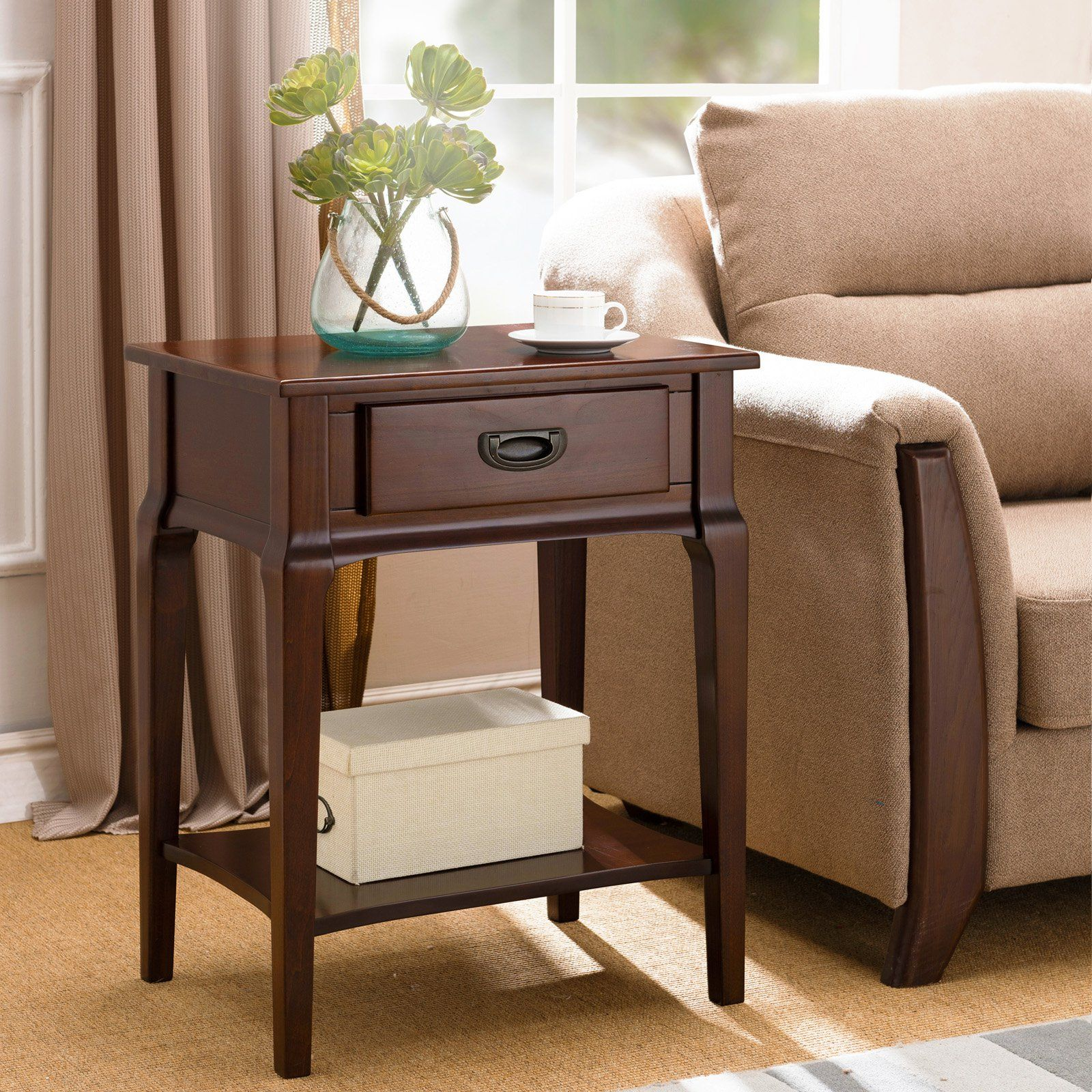 Leick Home Stratus Night Stand With Drawer Furniture
