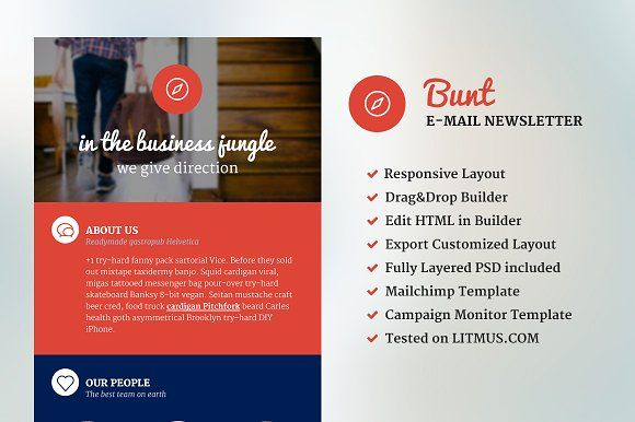 Bunt - Corporate Email Template by NancyS on @creativemarket