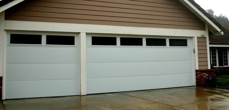 Flush Panel Garage Doors With Windows Google Search Garage Door Panels House Exterior Garage Door Windows