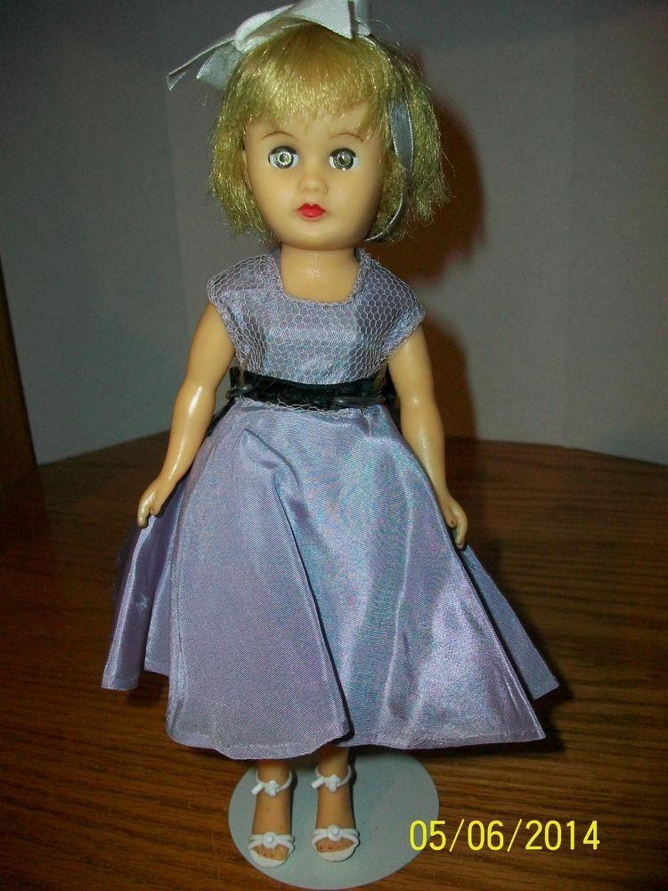 Vintage Circle P Doll 10 Inch Vinyl Doll In Purple Dress Barbie Fashion Royalty Purple Dress Vinyl Dolls
