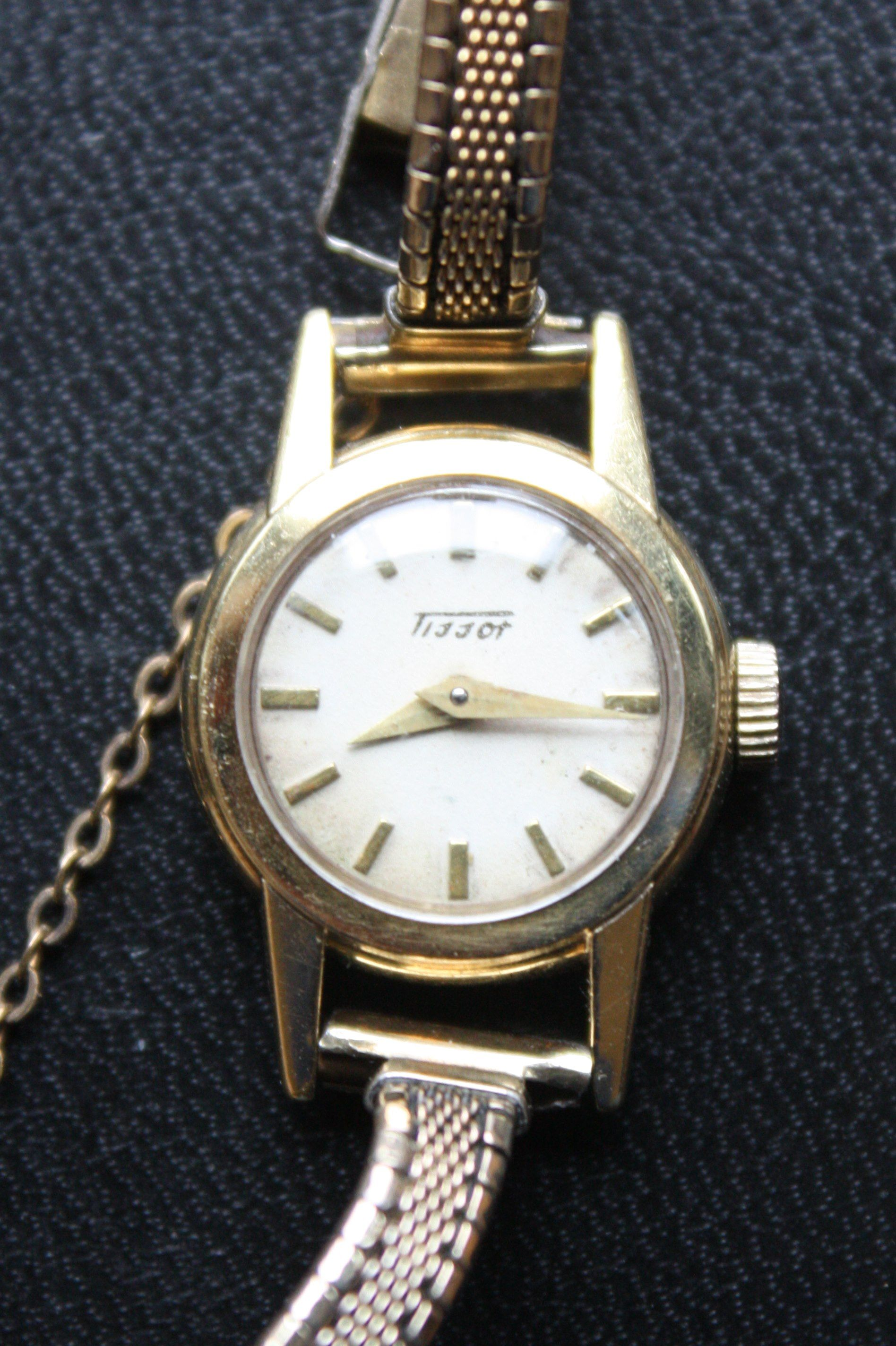 Vintage Ladies Tissot 18KT Gold Watch