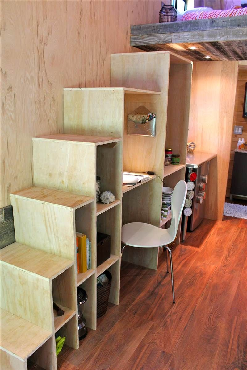 tiny house stairs. mymodernmet  College Student Joel Weber Builds Tiny House in Order to Graduate Debt Free See inside this college student s 145 square foot home