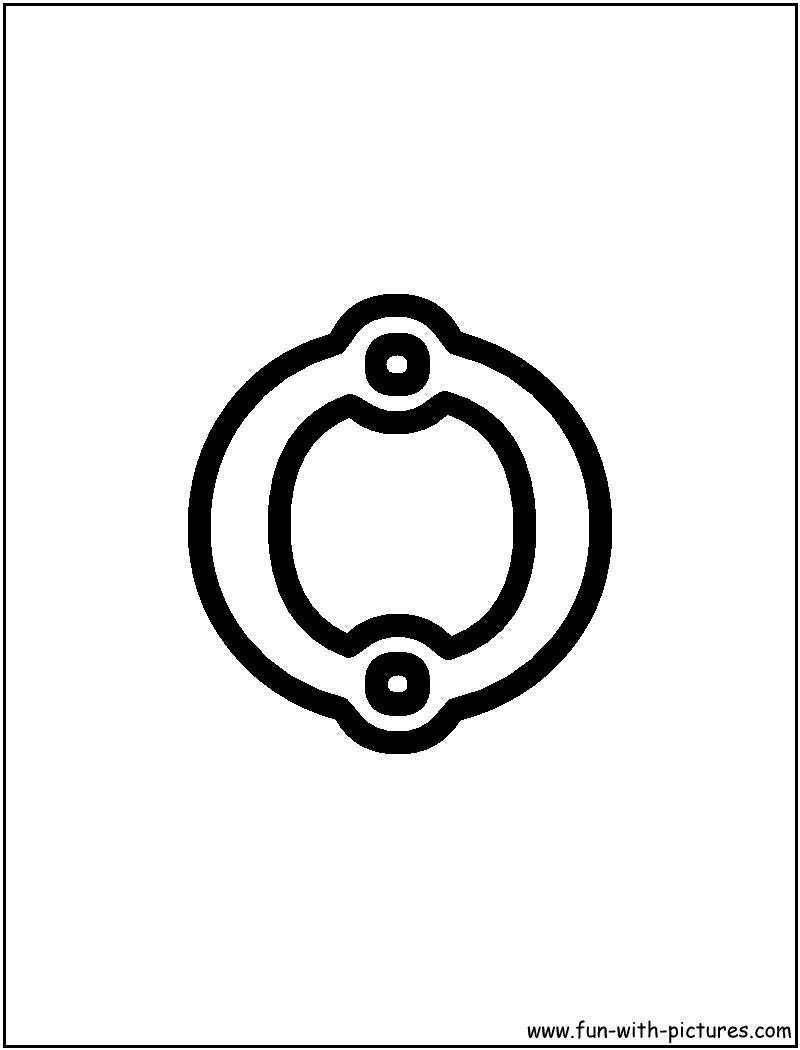 Block O Coloring Page | Alphabet O | Pinterest