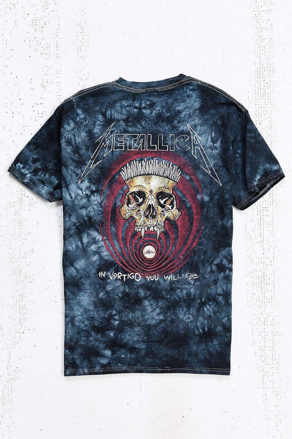 68af47e8 Metallica Pushead Tie-Dye Tee | ME. | Metallica t shirt, Metallica ...