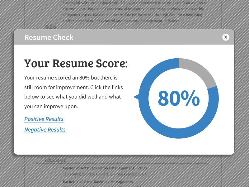 Resume Check By Steve Gaddis For LiveCareer